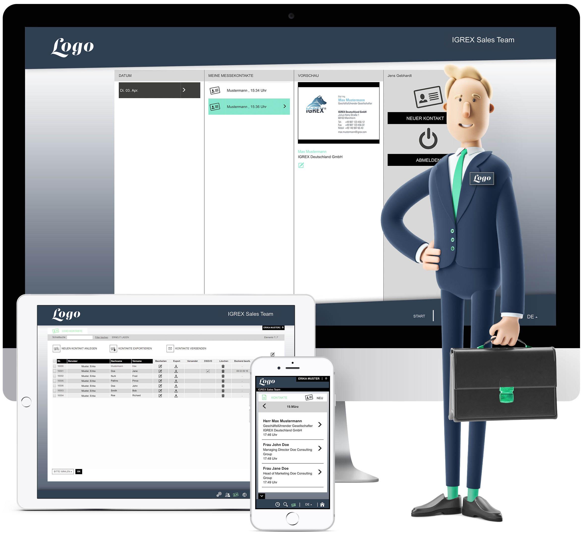 IGREX in Ihrem Corporate Design